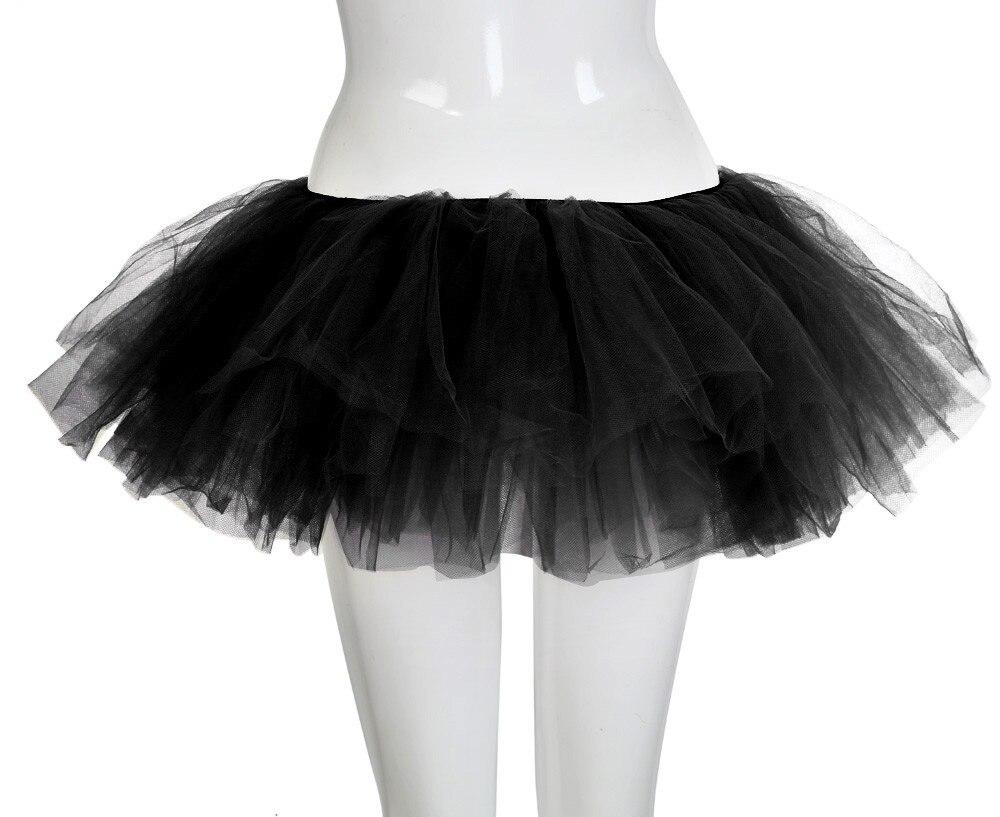 5 Layers Sexy Midi Tulle Skirt Streetwear Pleated Skirts Womens Short Tutu Femme 2019 Winter Gothic Jupe Falda Tul Plisada