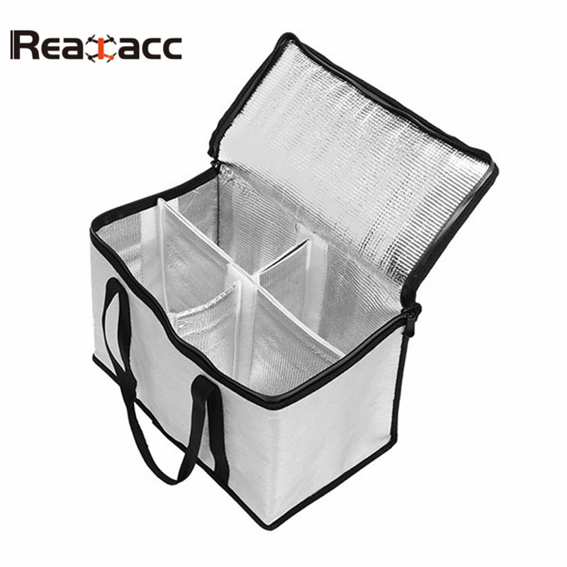 Realacc LiPo Battery Portable Safety Bag Package 355x210x240mm With Handle For RC Models Spare Parts Accs realacc fire retardant lipo battery bag 220x155x115mm with handle