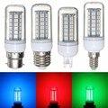 5050 SMD 48 CONDUZIU a Luz da Lâmpada E27/E14/G9/B22 3.5 W Vermelho/Verde/Azul 300 Lumen lâmpada de Poupança de Energia Da Lâmpada Plástico Lâmpada Não Regulável AC 220 V