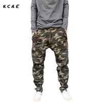 Camouflage Jeans Mens 2015 New Fashion Camo Harem Jeans Drop Crotch Plus Size S M L
