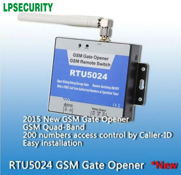 Deals Wireless GSM gate opener SMS remote switch on off(RTU5024)Authorized  200 users by free Phone Call for car parking systems-in Access Control Kits