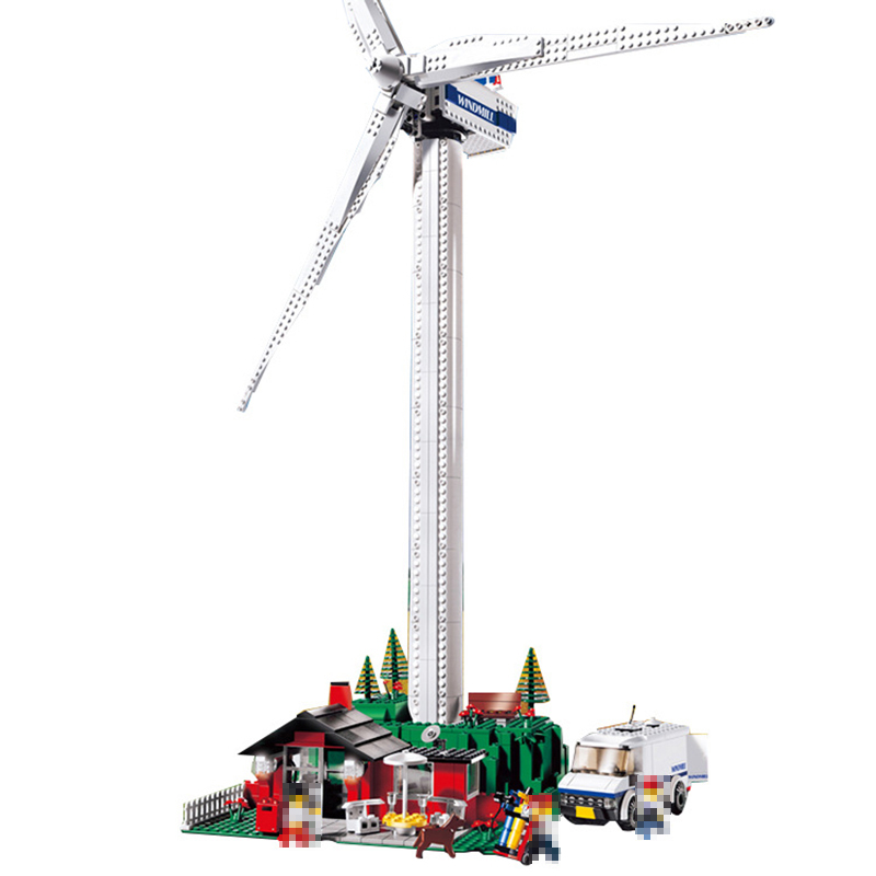 Совместимость с LEGO Technic 4999 модель 37001 873 шт. Творческий vestas Ветряные мельницы турбины строительные блоки кирпичи игрушки для детей