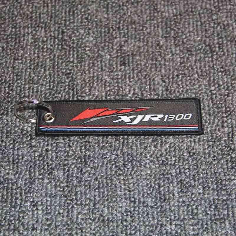 Брелок в виде мотоцикла тканые бирка кольца для ключей этикетка цепи для Yamaha XJR1200 XJR1300 XJ6