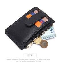 Men Women Bag Unisex Card Holder Vintage Zipper Anti RFID Purse Casual Small Fashion Cardholder Wallet
