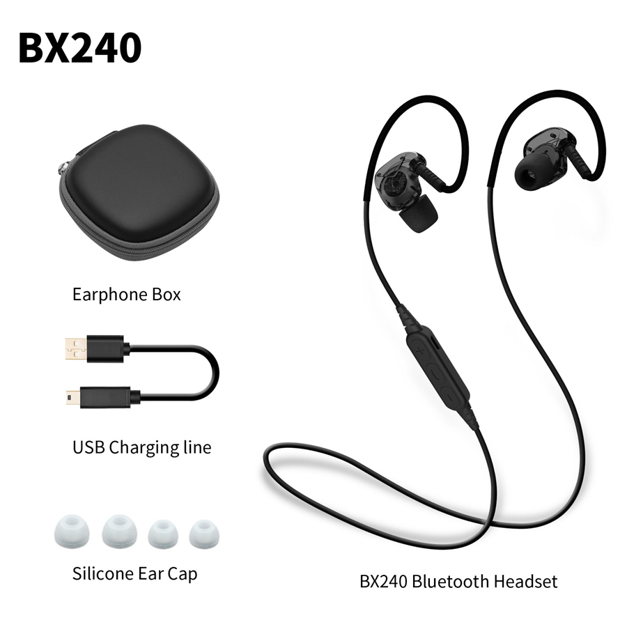 PLEXTONE BX240 LED Sport Bluetooth Earphones Sweatproof Waterproof Bass Stereo Headphones With Mic For for iPhone Android Phones