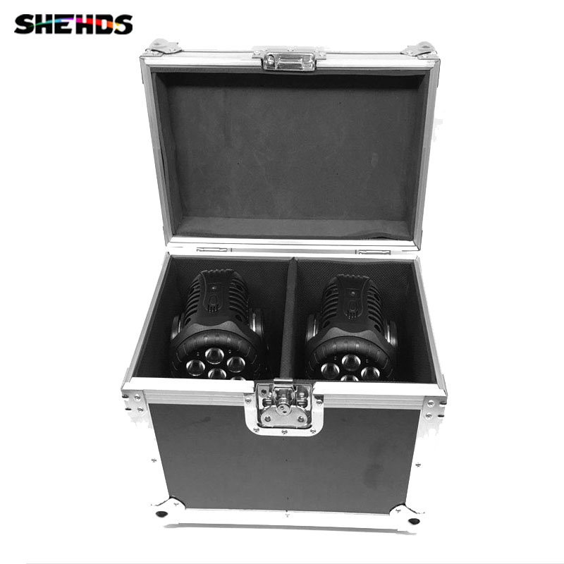 Flight Case with 2/4 pieces LED Wash 5x18W RGBWA+UV  Moving Head Lighting for Disco KTV Party Fast Shipping,SHEHDS free shipping aluminum alloy led par12x18w rgbwa uv and mixed color light wash light for dj disco ktv and party shehds