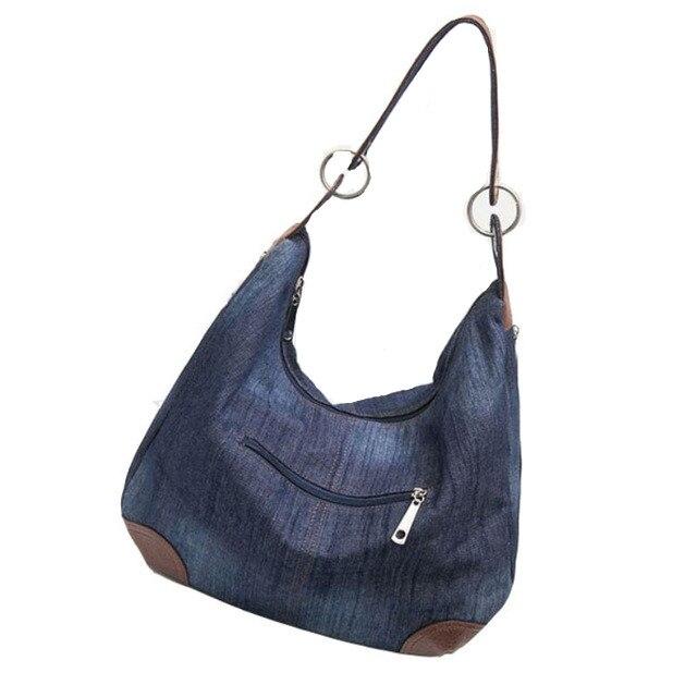 ZHIERNA 2017 New Designer Ladies Hand bags Large Luxury Handbags Women Bag  Big Purses Jean Tote  Denim Shoulder Crossbody designer purses and handbags ladies hand bags women shoulder bag pochette circular handbag