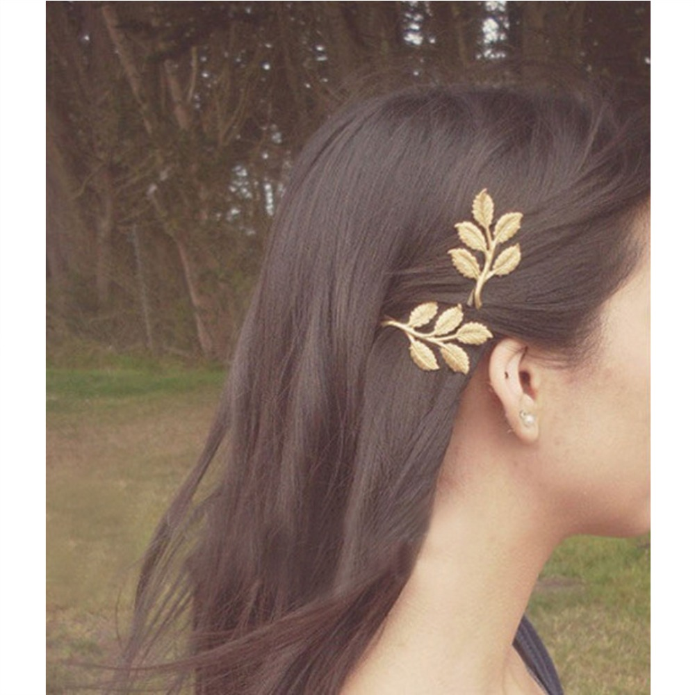 2019 M MISM Retro Women Wedding Hair Accessories Olive Branches Leaves  Hairpin Side Folder Pinzas De Pelo Jewelry Hair Clips