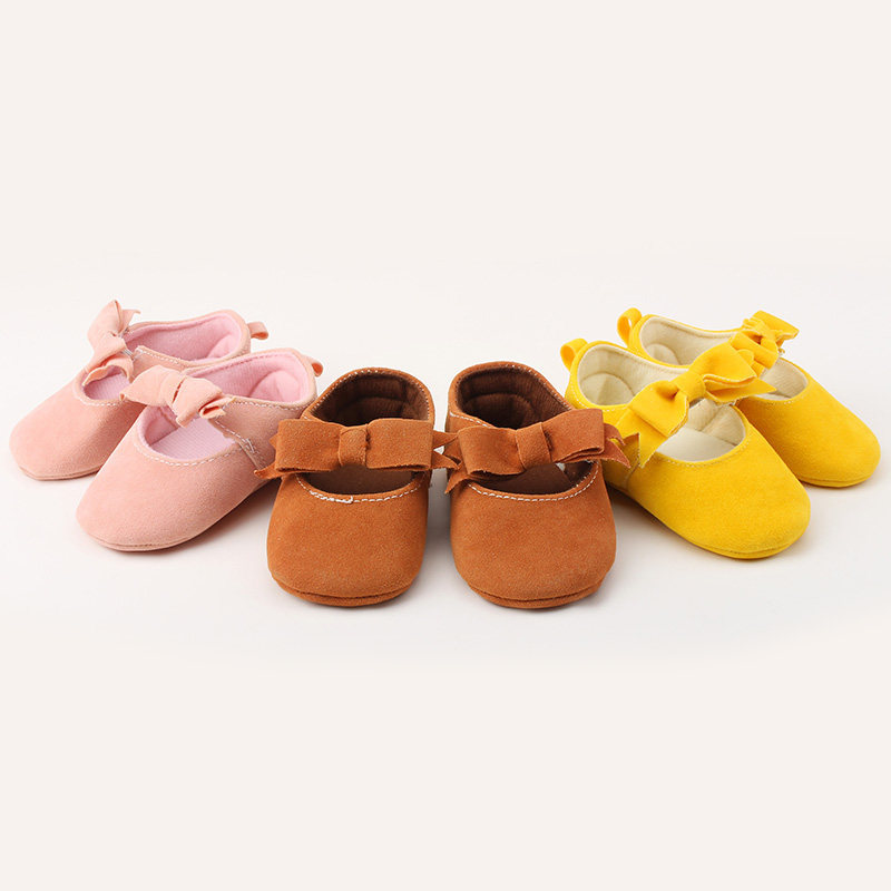 Unique Cute Polka Newborn Infant Toddler First Walkers Butterfly knot Design Princess Baby Shoes For 0 15 Months Baby Save Shoes in First Walkers from Mother Kids