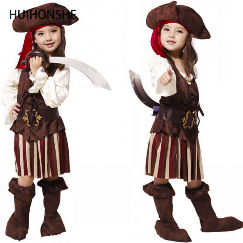 HUIHONSHE Baby Girls Forest pirate clothes Halloween Costumes for Children Pirate Clothes Girl Dresses Hunter costumes