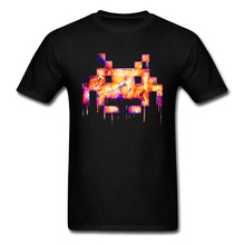 Mens Top T-shirts Game Over Graphic Casual Tees 100 Cotton Crew Neck Short Sleeve High Pixel Printed Tee-Shirt SummerAutumn