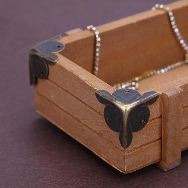 Retro 12pcs Furniture Decorative Metal Corners Jewelry Box Wood Corner Protector Antique Chinese Crafts