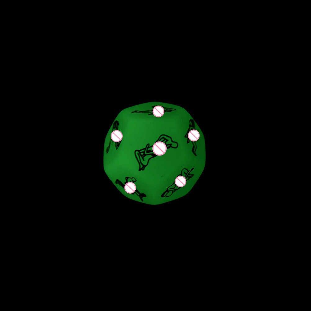 1 шт. Забавные эротические игральные кости 12 боковые эротический крэпс секс кости любовь игрушечные кубики для интим-игрушки для взрослых фосфоресцирующие пары игральные кости игры