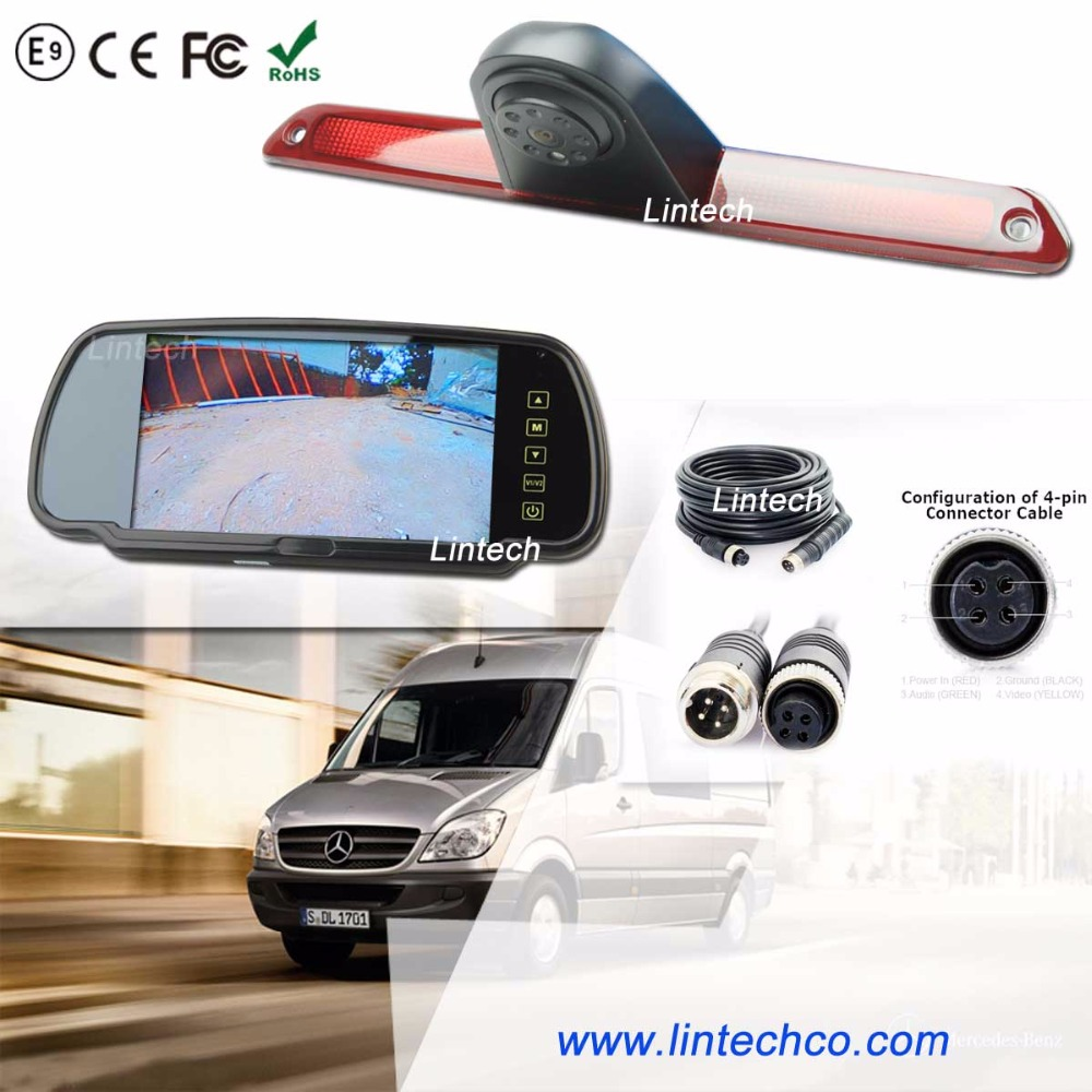 7inch mirror monitor sony ccd car rear view camera for sprinter van
