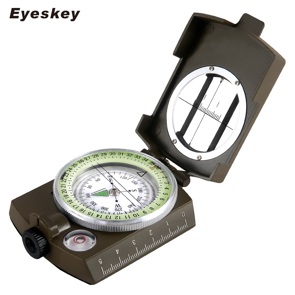 Military Lensatic Compass Eyeskey Survival Military Compass Hiking Outdoor Camping Equipment Geological Compass Compact Scale hiking camping copper alloy compass golden page href