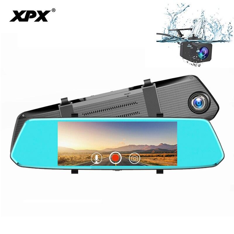 XPX ZX819 Car DVR Mirror Dash cam 7 Inch Rearview camera mirror Full HD 1080P 170 degree Mirrir