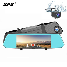 XPX ZX819 Car DVR Mirror Dash cam 7 Inch Rearview camera mirror Full HD 1080P 170 degree Mirrir