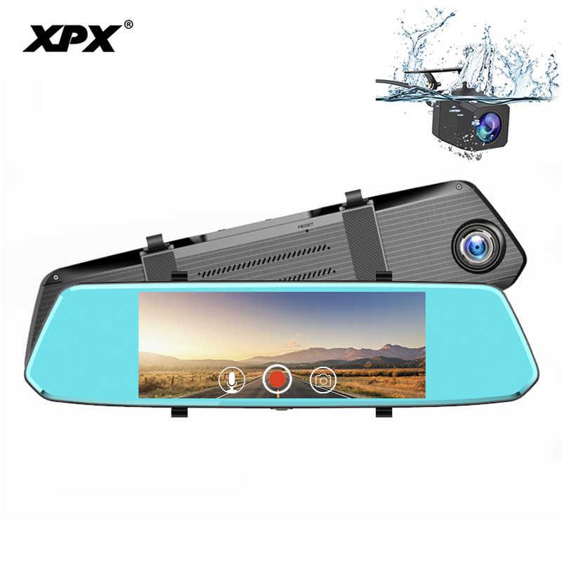 XPX ZX819 камера заднего вида Dash cam 7 дюймов камера заднего вида зеркало заднего вида Full HD 1080P 170 градусов, камера для машины Mirrir камера