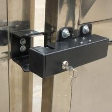 LPSECURITY cerradura de pestillo de puerta eléctrica, 12V, para Puertas Abatibles, doble o de una sola hoja