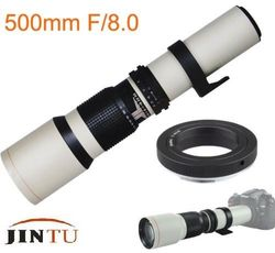 JINTU 500mm f8 Super Telephoto Lens for Canon EOS 60D XT XTI 550D 2200D 4000D 750D 77D 800D 70D 80D 6DII 7DII DSLR Cameras