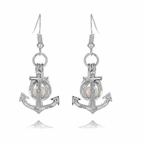 HENGSHENG 10 PCS Earrings Set Locket Cage Dangle Earrings with 1 PC Oval Pearl Pearl Oyster Fittings