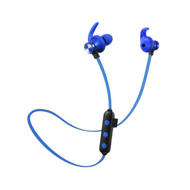 Magnetic Waterproof Sports 5.0 Attraction Bluetooth Earphone Headset With Charging Cable Earphone Build-in Mic Pluggable card