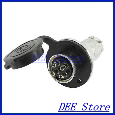 Pannel Mount P20-4 Core 4 Terminal Aviation Circular Cable Connector waterproof aviation plug pannel connector adapter 2 pin p20 2 core