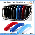 Para BMW 3 4 5 Series X3 X1 X4 X5 X6 5GT F10 F18 F30 F35 F48 F07 F25 F26 F16 F15 3D M Car Styling Tira de Ajuste de la Rejilla Frontal etiqueta