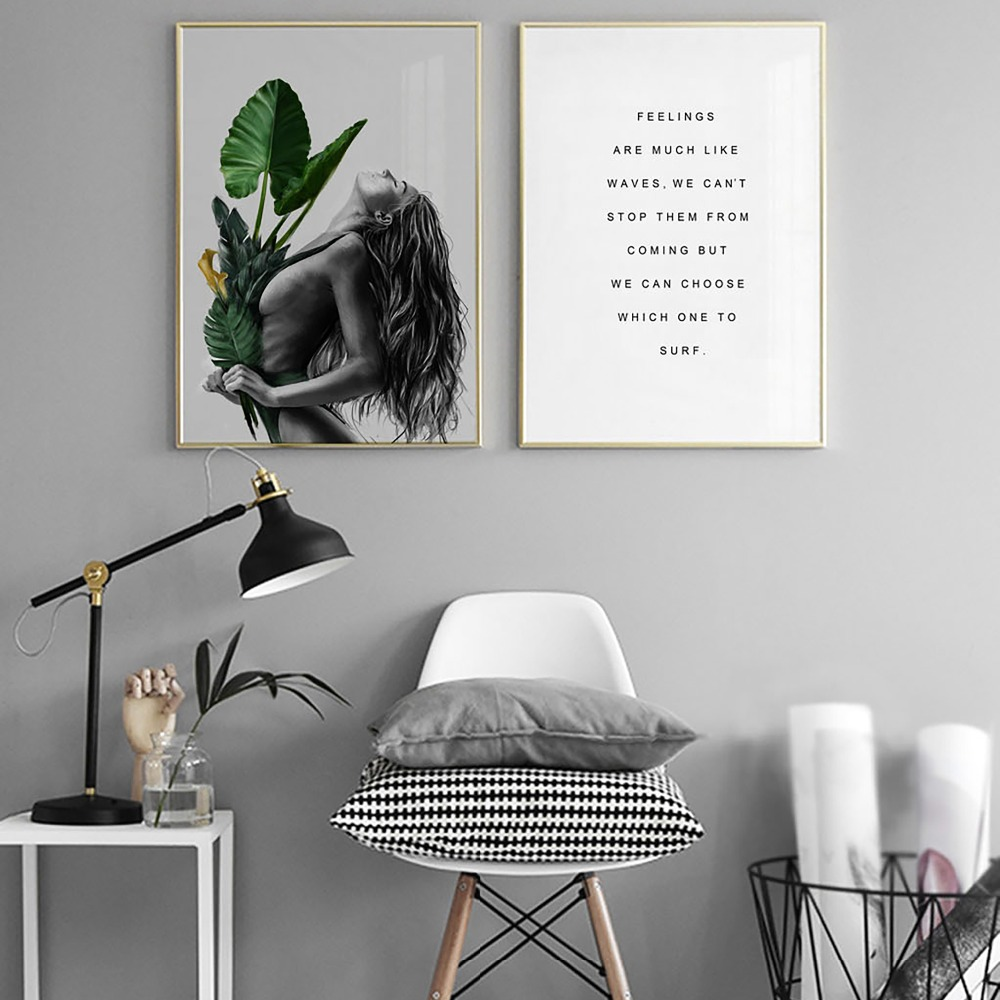 Sexy Woman Motto Painting Posters and Prints Nordic Decoration Wall Art Pictures for Living Room Modern Home Decor