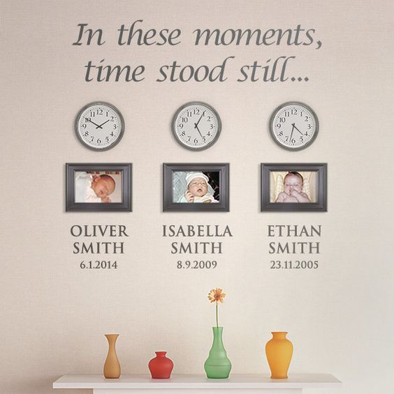 In these moments time stood still custom name wall decals date vinyl stickers removable art living room 602C