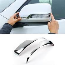цена на New Popular For Toyota Land Cruiser Prado FJ150 2010 to 2017 ABS Chrome Side Rear View Mirror Cover Trim Strip Accessories 2pcs