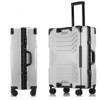 202426''29'' Aluminium Frame Suitcase valise mala de viagem TAS LOCK Spinner Business Travel Trolley Luggage Bag on Wheel