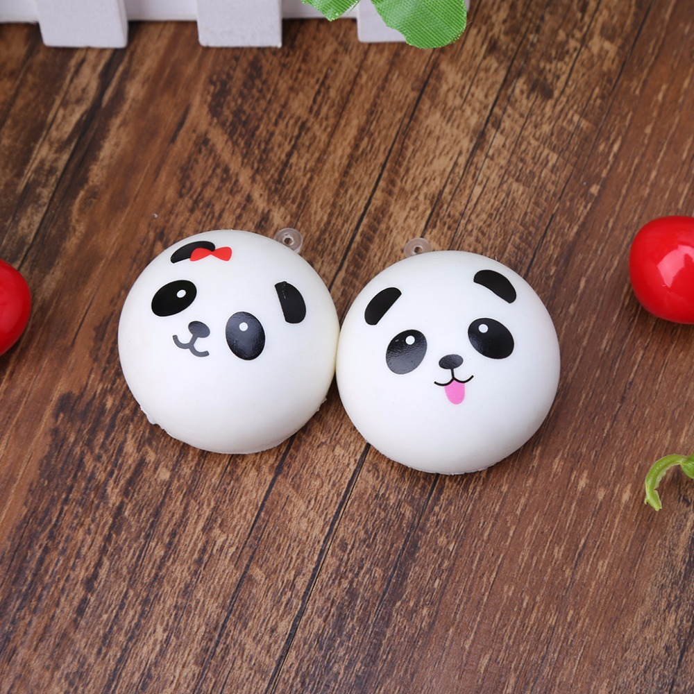 Squishy Panda Bun Stress Reliever Ball Slow Rising Decompression Toys Kids Toy
