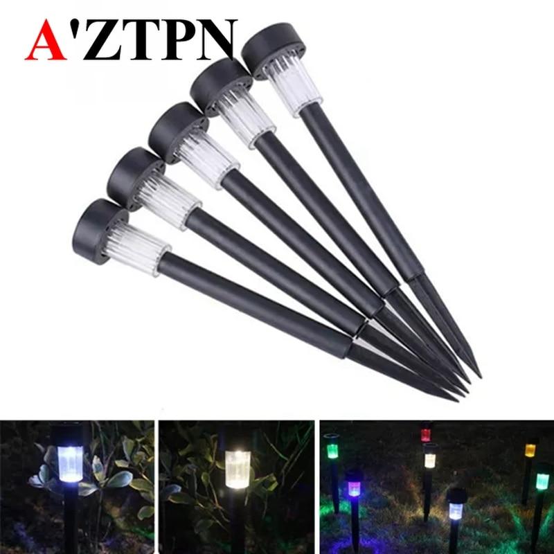 Solar Powered Plastic LED Lawn Light Waterproof Outdoor Garden Landscape Yard Path Lamp Landscape LED Spot Light For Garden