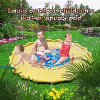 Newly Inflatable Water Spray Play Mat Sprinkle Splash Pad for Kids Summer Outdoor Backyard BF88