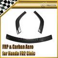 Автомобиль для укладки Для Honda 2006-2011 ЖД2 Civic Mugen RR Углеродного Волокна Под Губой (3 шт.) На Складе