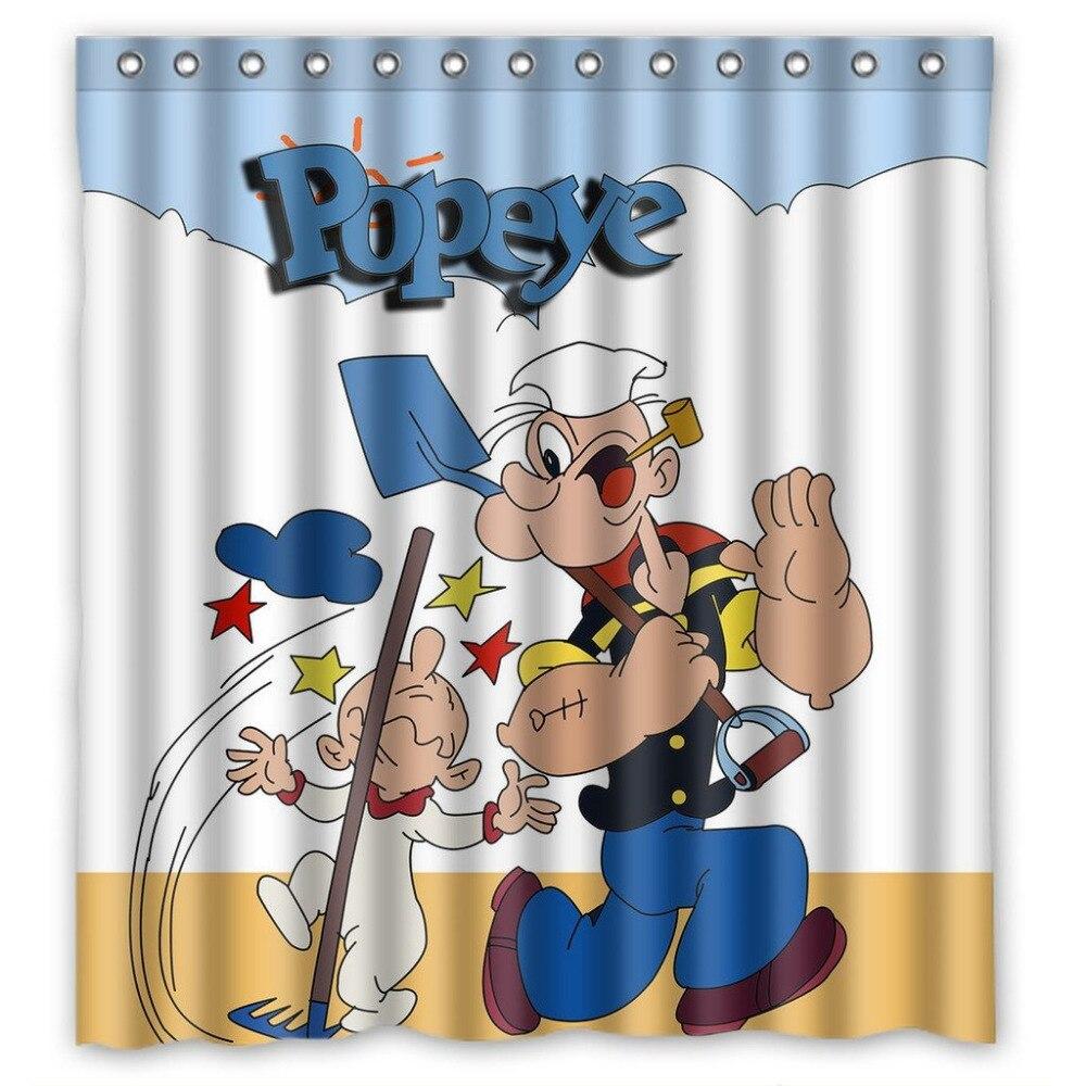 Lucu Kartun Popeye Gambar Kustom 180x180 Cm Ukuran Besar
