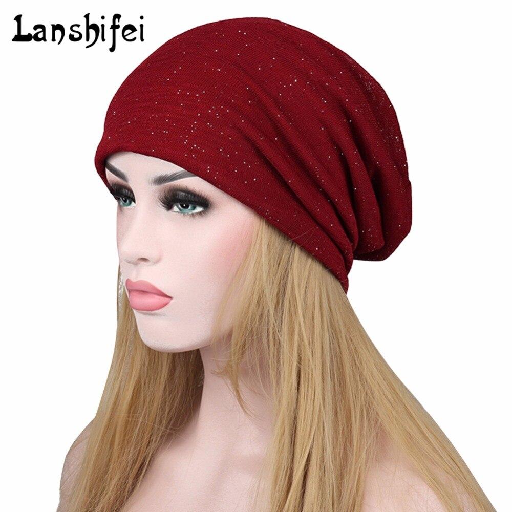 Hot Sales Winter Women Knitting Hat Chemotherapy Knitting Hat Folding Hat Winter Snow Warm Lady   Skullies     Beanies   Hat Headgear