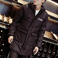 2016 Casual Long  Hooded Parkas Hombre Invierno Thick Cotton-padded Mens Winter Parka