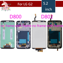 5.2'' For LG G2 LCD Display Touch Screen For LG G2 LCD assembly complete D800 D801 D802 D805 D803 original LCD replacement все цены