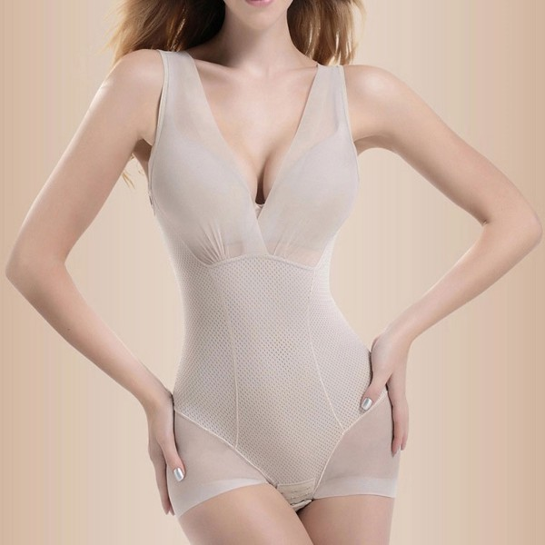 2 Colors Women Shapewear Tummy Suit Control Underbust Body Shaper Slimming Underwear Vest Bodysuits Correctiv L-XXL SV003223