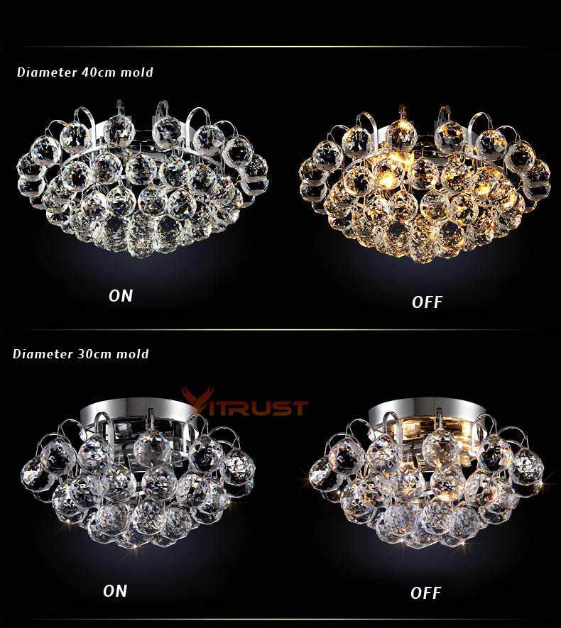 Top K9 คริสตัลโคมไฟเพดานไฟ LED สำหรับติดตั้งไฟสำหรับห้องนอนในร่ม Luster De Cristal
