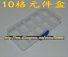 (5pcs/lot) Super 10 format utility box screw box IC electronic components transparent plastic box storage box