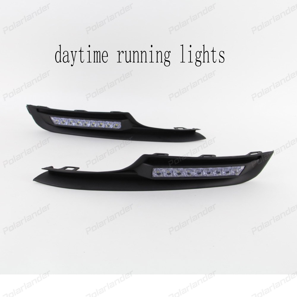 2 PCS CAR accessory LED DEL daytime driving running light for V/olkswagen G/olf 7 2014-2015 car-styling