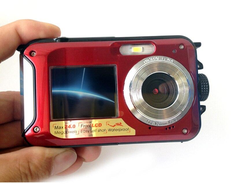 HTB1DY6WhYSYBuNjSspfq6AZCpXan Waterproof Digital Camera Dual Screens (Back 2.7 inch + Front 1.8 inch) HD 1080P 16x Zoom Camcorder Cam  DC998