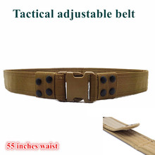 High-durability Constructed Metal Detecting Outdoor Tactical Belt 54inch Can Adjustable Large Waistline Digger