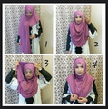 Jersey instantánea resbalón en chales llanura del mantón de hijab amira hiyab bufanda de algodón camiseta, puede elegir los colores, envío libre 5140