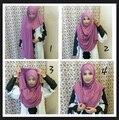 Jersey instantânea deslizamento em xales xale hijab amira hijabs algodão liso jersey lenço, pode escolher as cores, frete grátis 5140