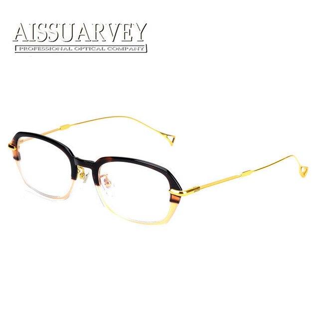 ceb040e63f8 Women eyeglasses optical frame titanium fashion brand designer metal eyewear  prescription vintage classic myopia clear lenses