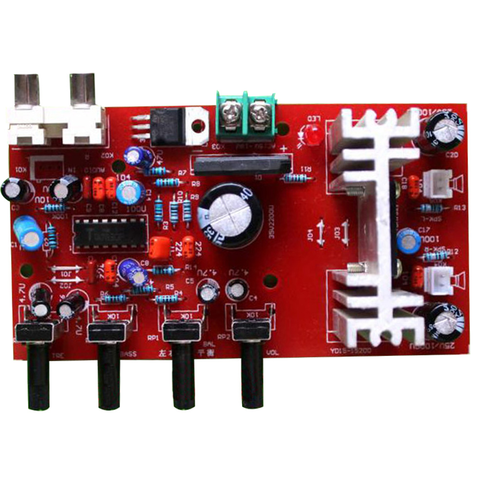 Cnikesin Diy Kit Tda1521 Ta7630 Audio Amplifier In Front Of Build Electronic Circuit Parts Suite Integrated Circuits From Components